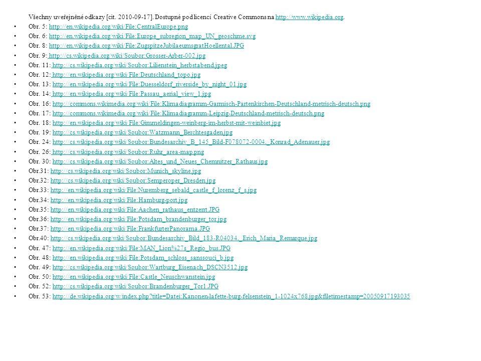 Všechny uveřejněné odkazy [cit. 2010-09-17]